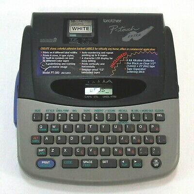 Brother P-touch Extra Pt-300 Electronic Label Thermal Printer Tested-works