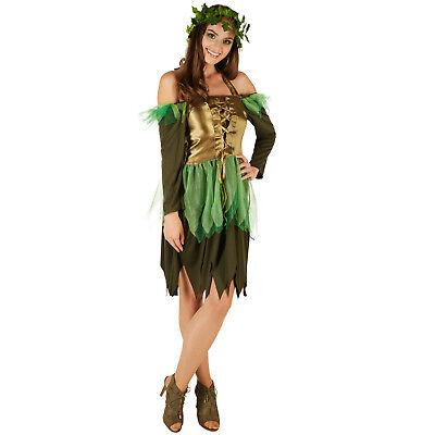 Frauenkostüm Waldfee Kostüm Frauen Karneval Fasching Halloween Fantasy - Fee Kostüm