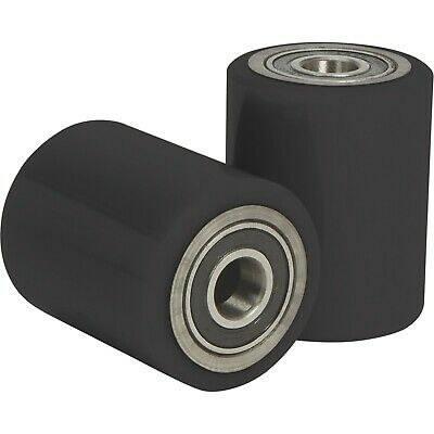 5500lb Pallet Jack Replacement Wheels - Polyurethane - Front - New