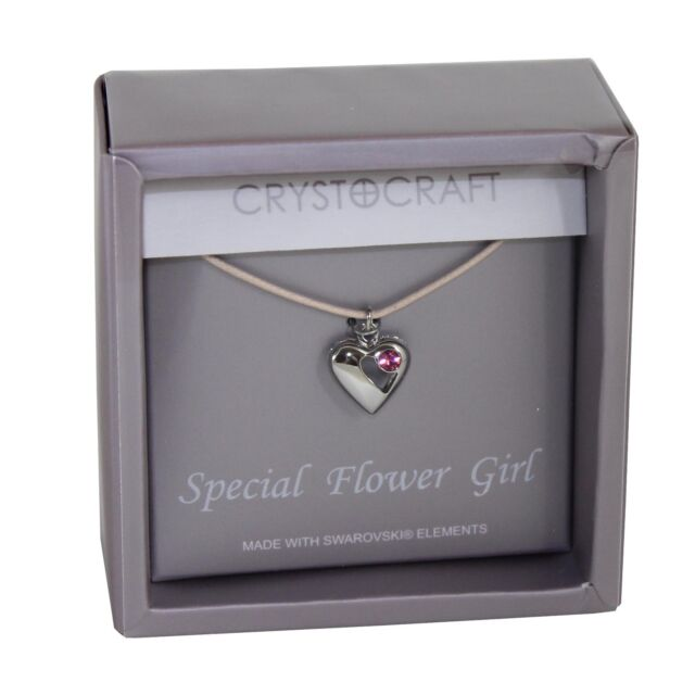 Wedding Gift Necklace - Heart Charm Our Special Flower Girl