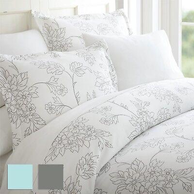 premium 3 piece vine patterned duvet cover