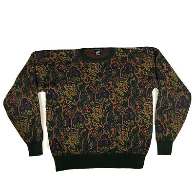 Nautica Mens Medium Multicolored Crewneck Sweater Unique Pattern EUC