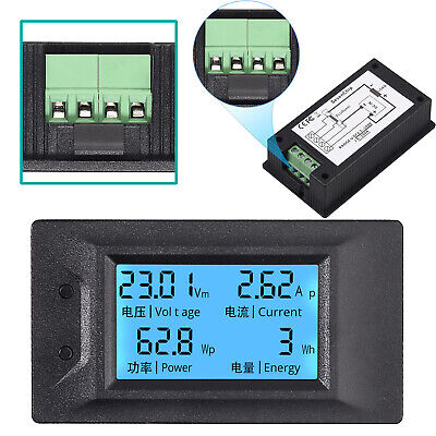 Dc6.5-100v 100a Lcd Display Volt Meter Amp Multi-meter Power Monitor Panel Kit