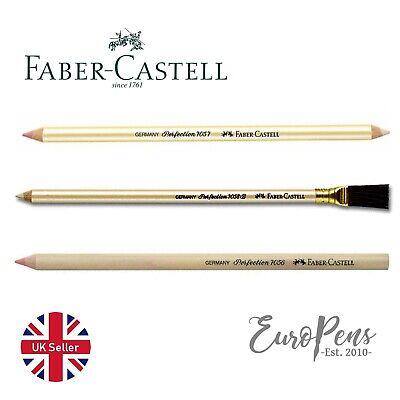 Faber Castell Perfection Eraser Tip Pencils - Choose 7056/7057/7058B - UK