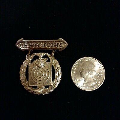 Vintage silver tone U.S. Marine Corps target pin brooch badge WWII? - Marine Corps Costume