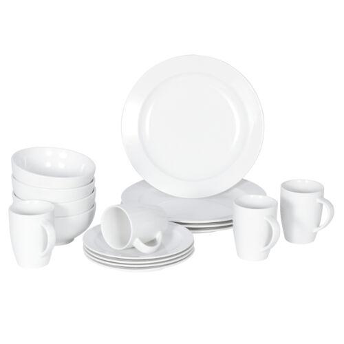 Dinnerware Set 16 Piece Plates Kitchen Dishes Dinner Bowls Mugs 4 Service Dinner Service Sets