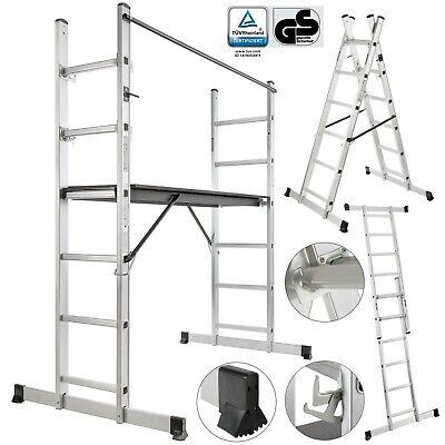 Arebos Working Ladder/scaffold Tower Working Platform Aluminium/Wood Step Ladder
