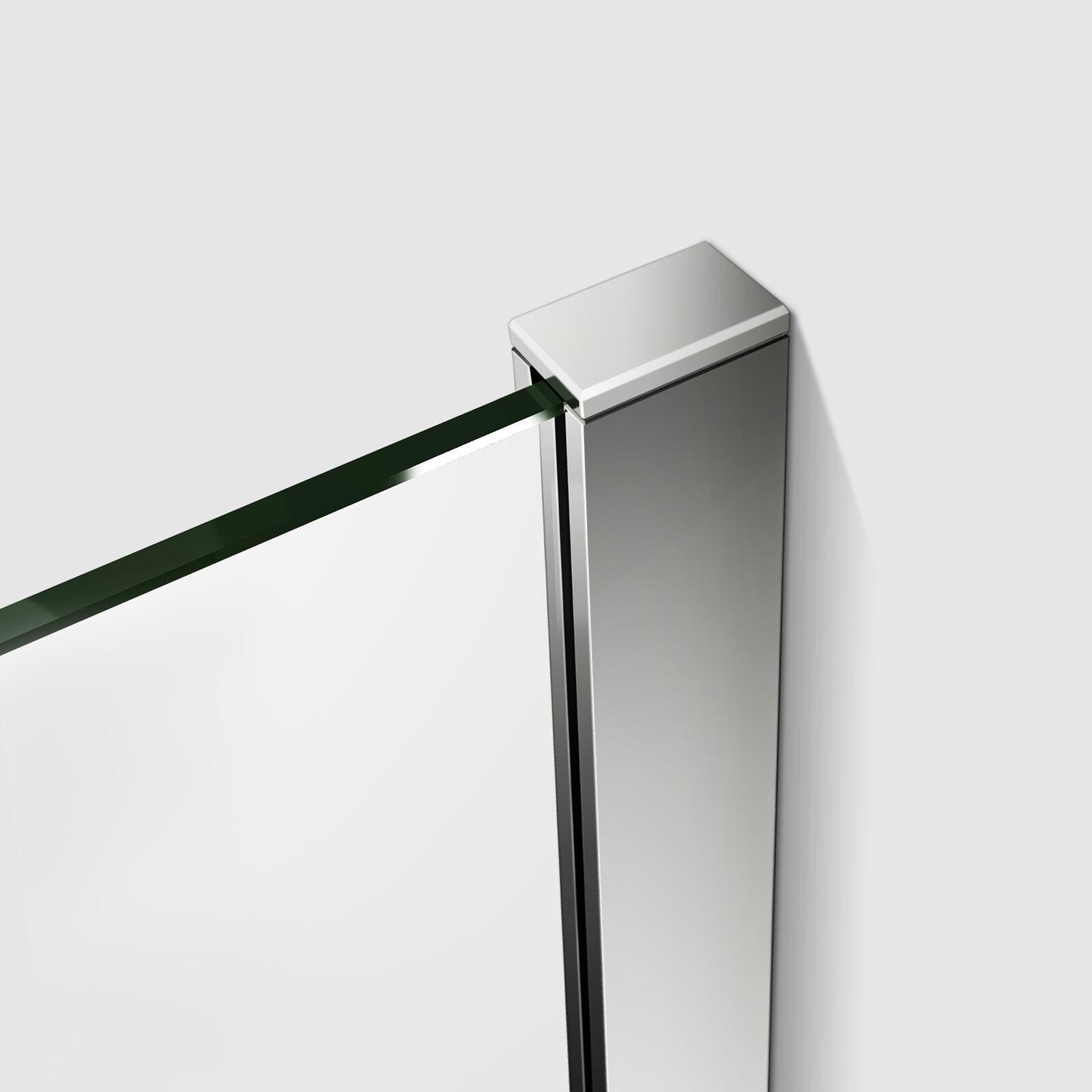 Dusche Glaswand Nano : Walkin Duschwand Dusche 8mm Echtglas NANO und Teilsatiniert 9