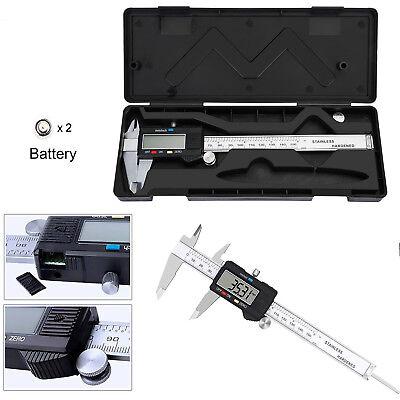 Digital Caliper Stainless Steel Electronic LCD Micrometer Measuring 0-6