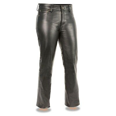 "Milwaukee Leather Women""s - Classic 5 Pocket - Black  Leather Pants  **LKL6790"