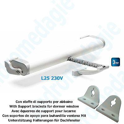 LIWIN 250N 230V WHITE + SUPPORT BRACKETS FOR DORMER WINDOW WHITE Chain Motor