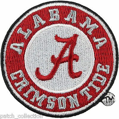 Alabama Crimson Tide Official Round Logo Embroidery Iron On Patch Hat Football