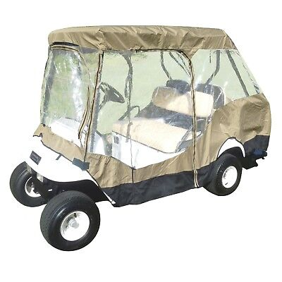 "4 Passenger Golf Cart Driving Enclosure Cover | EZGO Club Car (Short Roof, 58""L)"