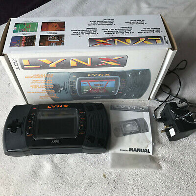Tested & Working Boxed VGC Atari Lynx 2 Console & PSU Power Supply