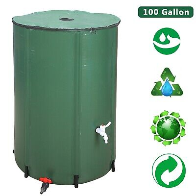 Collapsible Water Tank Rain Butts Hydroponics Connector Foldable Storage Barrel