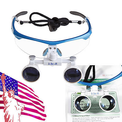 Dental Surgical Medical Binocular Loupes Glasses 3.5x420mm Kvma