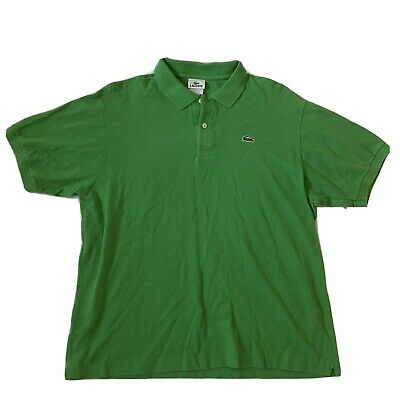 Lacoste Mens Crocodile Short Sleeve Green Polo Shirt Mens Size 7 Tennis