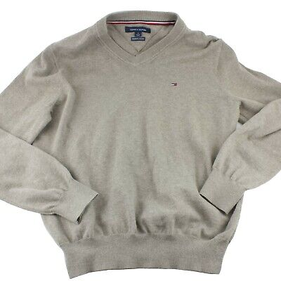 Tommy Hilfiger Mens Sweater Size Medium Brown