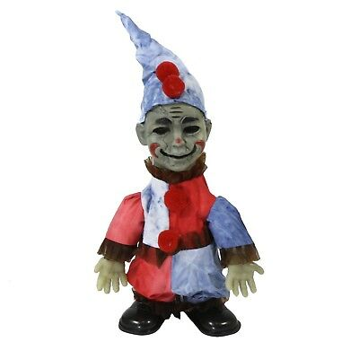 Animated Talking Creepy Clown Jester Zombie Doll Halloween Home Yard Decoration