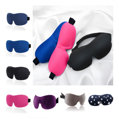 1pcs Fashion Soft Padded Blindfold 3D Eye Mask Travel Rest Sleep Aid Shade Cover