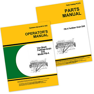 Operator Parts Manual For John Deere Van Brunt Fb157a Fb177a Grain Drill Catalog