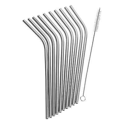 ONVAYA® Edelstahl Strohhalm Set | ohne Plastik | Nachhaltige Trinkhalme