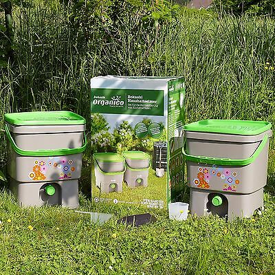 Bokashi Eimer Haushaltseimer Organico 16 Liter Doppelpackung (2 Stück) Kompost