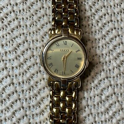 Vintage GUCCI Ladies Quartz Watch 3400L Gold Plated RUNNING New Battery