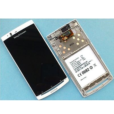 Genuine Sony Xperia Arc S X12 digitizer touch screen glass+LCD display LT18i wht Wht Lcd