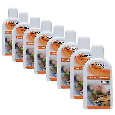 Warda Saunaaufguss Saunaduft 8x 200 ml freie Duftwahl + Probe Mentholkristalle