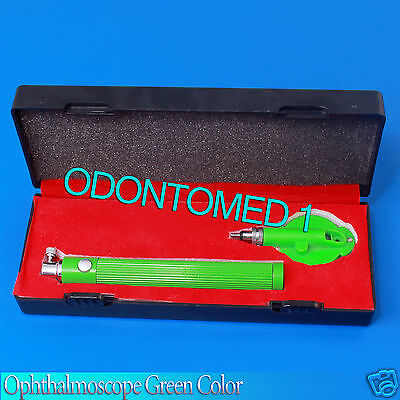 Ophthalmoscope Surgical Medical Ophthalmic Instruments Green Color
