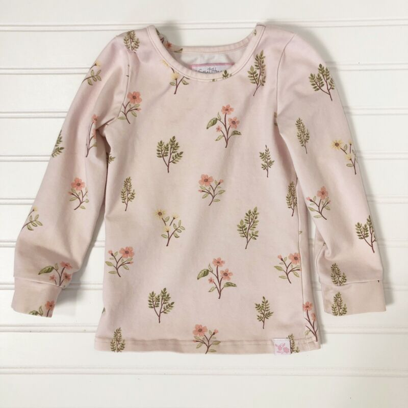 Sweet Honey Light Pink Floral Long Sleeve Top Size 3T