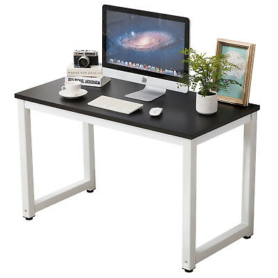 Wood Assignment Computer Desk PC Laptop Table Workstation Study Home Furniture Black