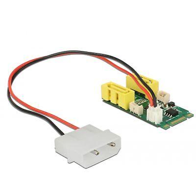 DeLOCK Konverter M.2 Key B+M Stecker > 2 x SATA Pin 8 Power Stecker