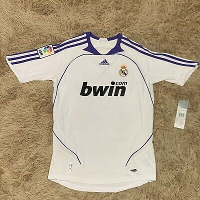 REAL MADRID SPAIN 2007/2008 HOME FOOTBALL SOCCER JERSEY ROBINHO #10 ADIDAS XS image