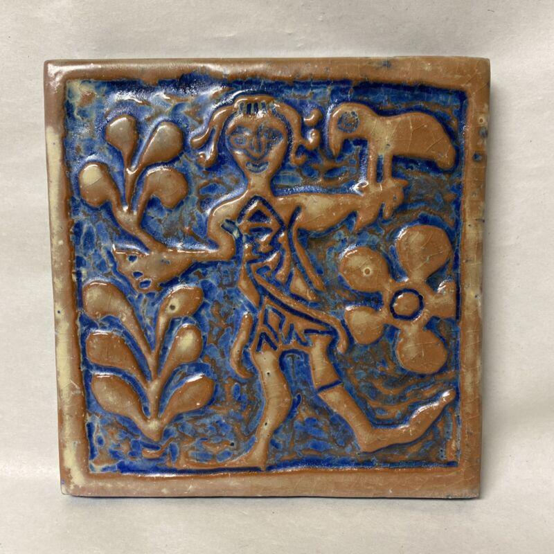 MERCER MORAVIAN ceramic tile, Doylestown PA FALCONER 5th MEMBERS EXCLUSIVE 2006