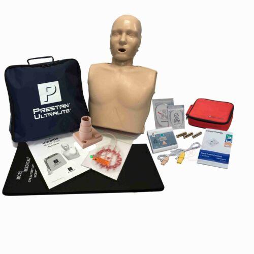Basic CPR Training Kit Prestan Ultralite Manikin w Feedback & WNL AED Essentials