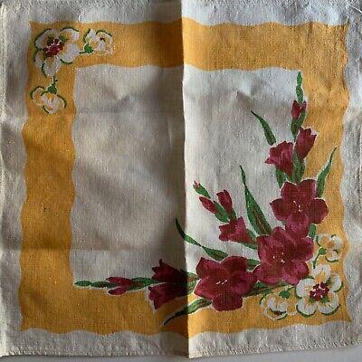 VINTAGE LINEN TEA TOWELS EMBROIDERED CUTWORK 2 AVAILABLE READ DESCRIPTION