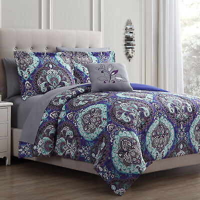 8 Piece Reversible Complete Bed Set - Catherdal