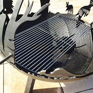 Get Today! Deluxe Australiana Fire Pit with BBQ Grill / Planter Ocean Reef Joondalup Area Preview