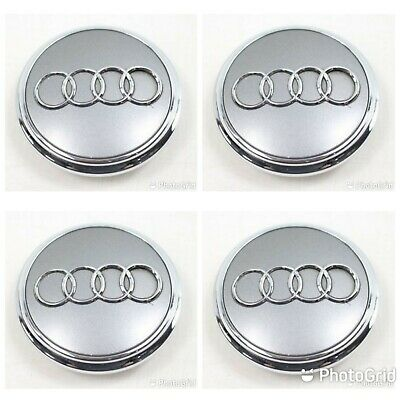 Audi Center Caps Hubcaps wheel emblem badge 77mm SET OF FOUR
