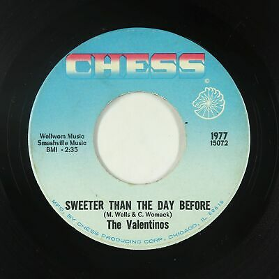 Northern Soul 45 - Valentinos - Sweeter Than The Day Before - Chess - mp3