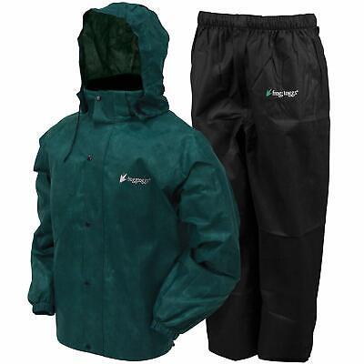 Frogg Toggs All Sport Rain Suit Dark Green Jacket/Black Pant