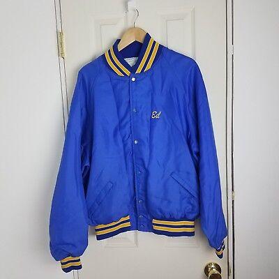 Vintage Nylon Satin Jacket Size Adult Mens 2XL Harvard Clothing Otterwear USA for sale  Farmington