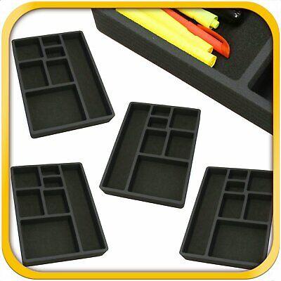 4 Desk Drawer Organizer Insert Black Home Or Office 7 Slot 15.9 X 11.9 New