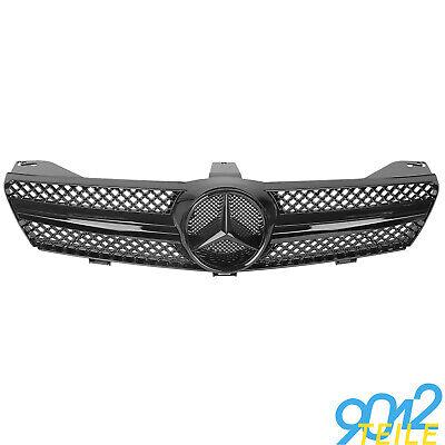 für Mercedes Grill C219 W219 CLS 280 320 350 GANZ SCHWARZ Kühlergrill vor Mopf
