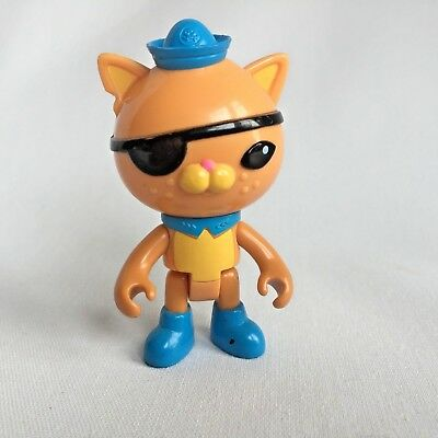 Disney Octonauts Kwazii Cat Figure Yellow Outfit Sailor Pirate Bendable 3