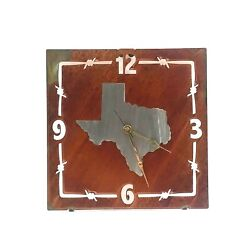 Texas Rustic Western Wall Clock Home Accent Decor Metal Lazart Cabin Lodge Ranch