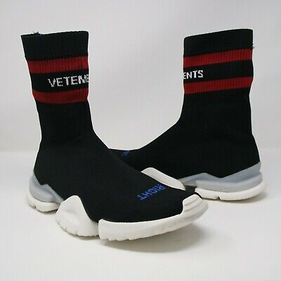Time Vetements Reebok Socks Sneakers Extremely Rare Authentic Men 9 US