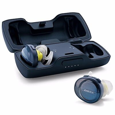 Bose SoundSport WIRELESS Free headphones Bluetooth NFC-Blue Citron INCLUDES CASE